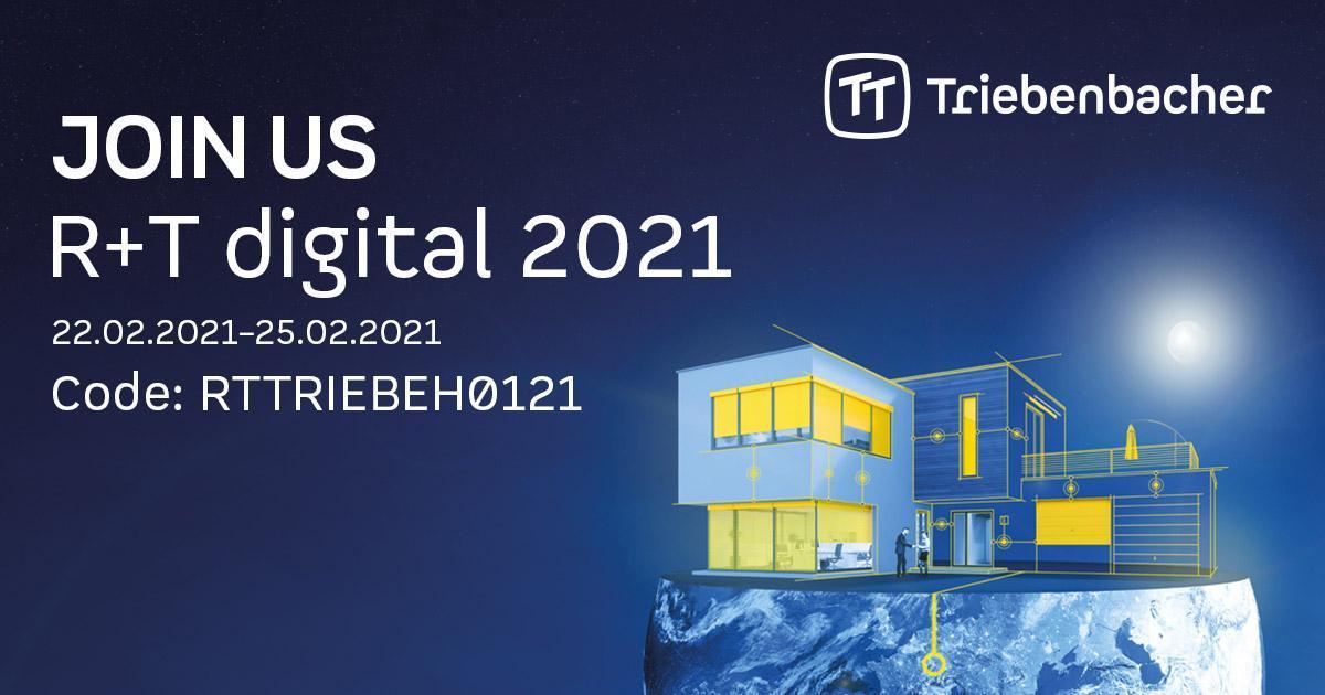 Triebenbacher auf der R+T digital 2021