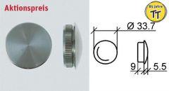 VA-Endkappe oval für Rohr 33,7 x 2 mm