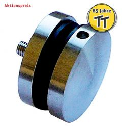 V2A Punkthalter d=50 mm, oval
