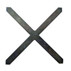 Zierkreuz 100x100mm,12x12mm,glatt