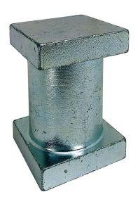 Einschweißstück 35x35x52mm, d=30mm