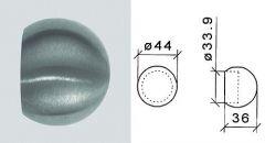 VA-Rohrabschlusskugel für Rohr 33,7 mm