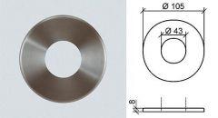 VA-Abdeckrosette d=105mm, h=8mm
