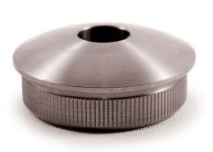 VA-Endkappe oval für Rohr 42,4 x 2 mm