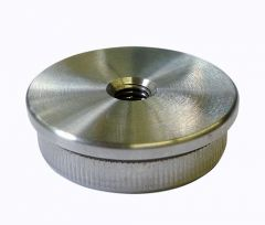 VA-Endkappe flach für Rohr 33,7x2 mm. M8