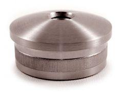 VA-Endkappe oval für Rohr 33,7x2 mm. M8