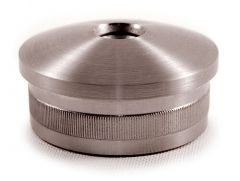 VA-Endkappe oval für Rohr 42,4x2,6mm. M8