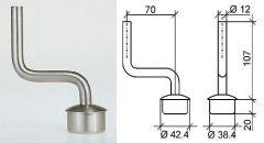 VA-Handlauftraeger f.Rohr 42,4x2mm