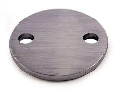 VA-Anschraubplatte d=64mm,2x6,5mm