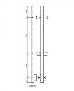 VA-Pfosten 40x40x2. Gew.4xM8