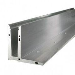 Glass U 2KN Aluminiumprofil 3m