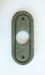 Drueckerrosette glatt, oval