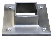 VA-Wandflansch 95x95mm, h=30mm