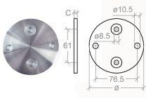 VA-Anschraubplatte d=100mm,h=6mm