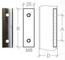 VA-Anschraubplatte für 42,4mm Rohr