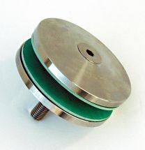 V4A-Glashalter d=80mm,f. Bohrung 25