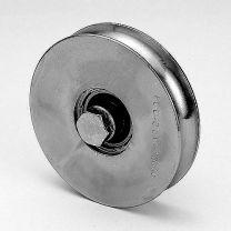 VA-Bodenlaufrolle d= 80mm, Rundnute