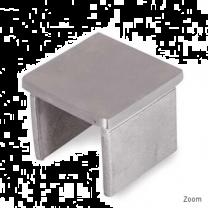 Endkappe flach V4A, 40x40x1,5mm
